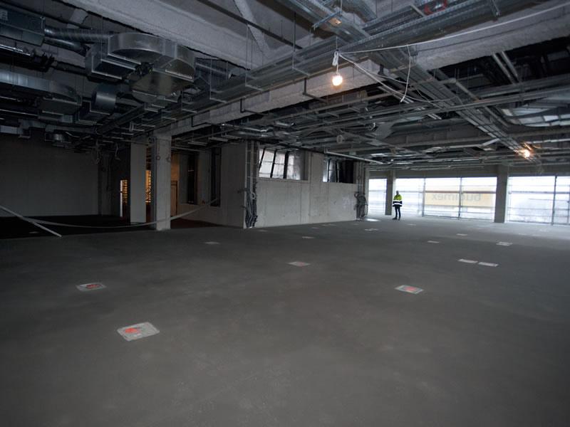 Kongresszentrum in Krakau - Floor under construction
