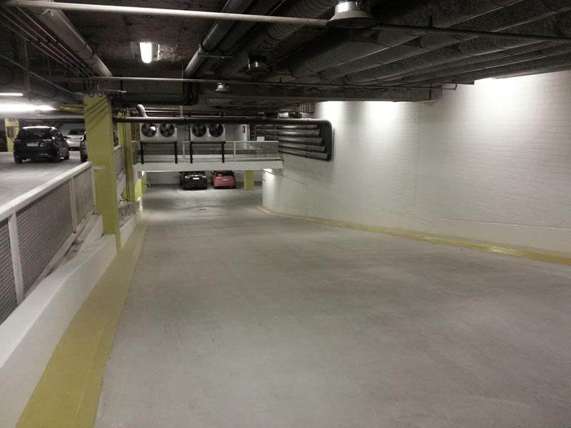 Tiefgarage - New improved ramp