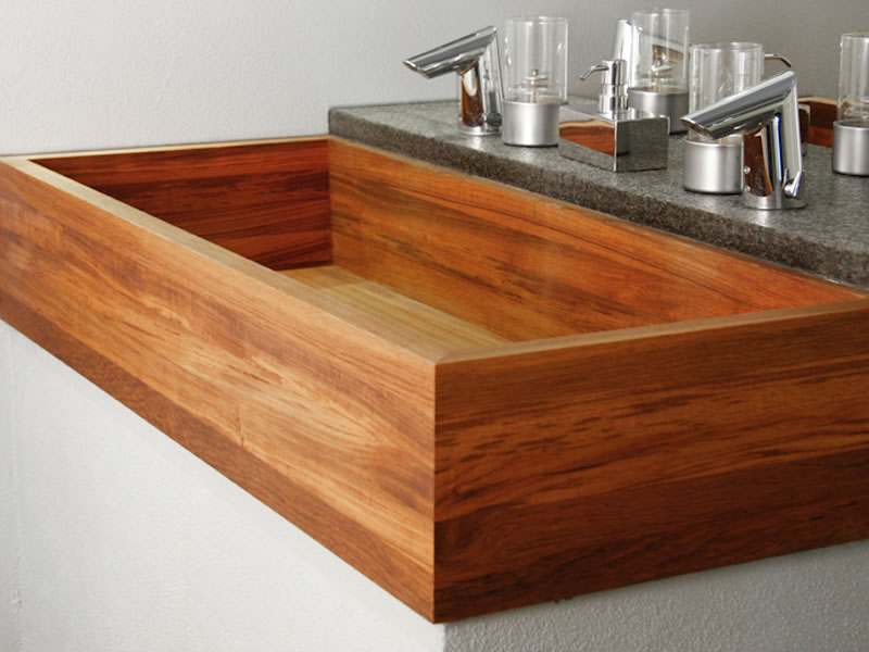 Holz und Beton - Wooden sink